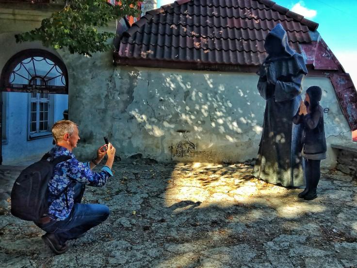 Monk at Tallinn City Wall Short Leg