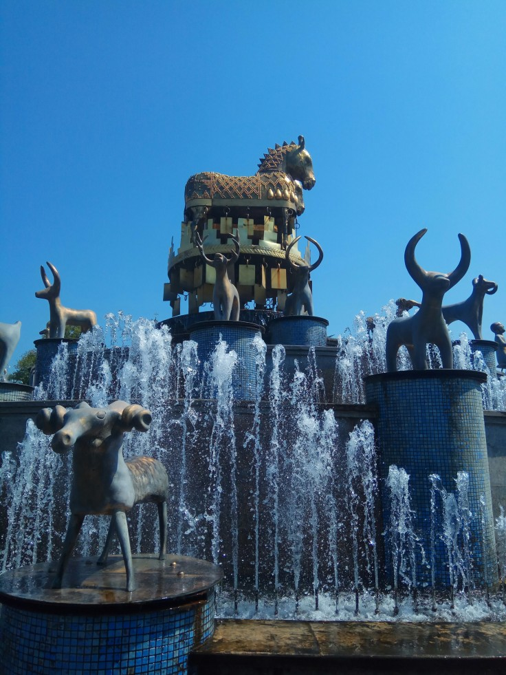 Animal fountain in Kutaisi