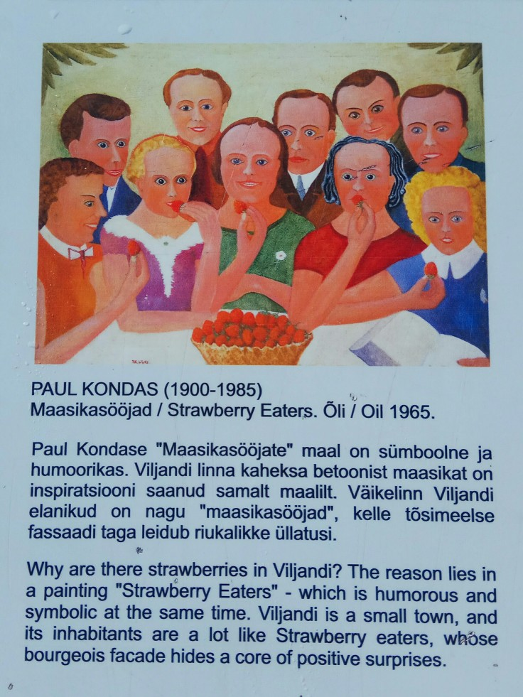 Strawberry Eaters Painting Viljandi Estonia