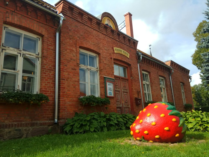 Giant Strawberry in Viljandi Estonia