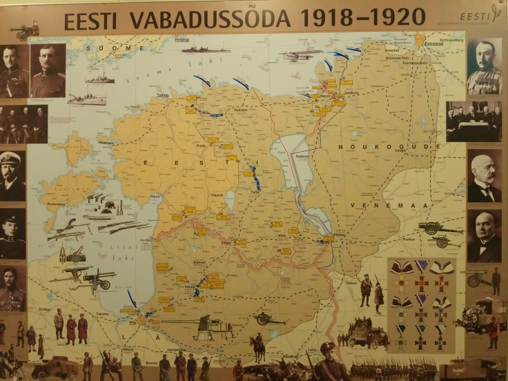 Poster showing the development of the Estonian War of Independence