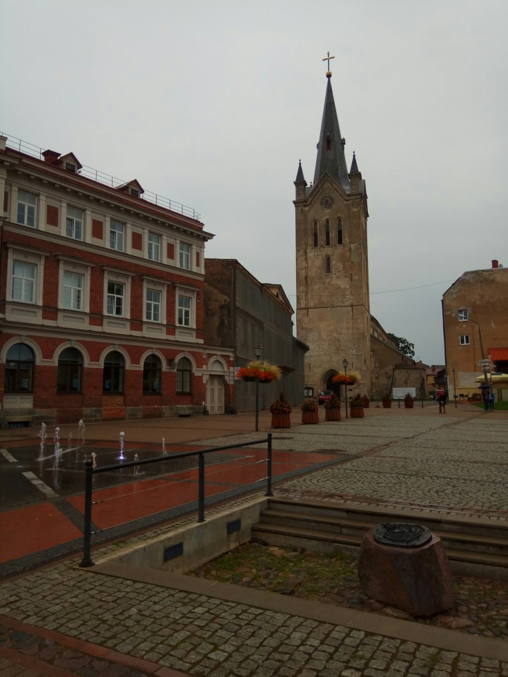Main Square in Cēsis Latvia